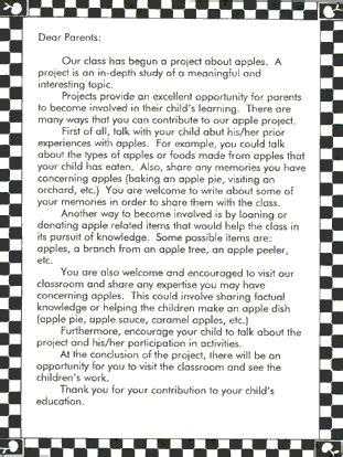 Book Report Letter To Parents Ecrp Vol 4 No 2 The Apple Project