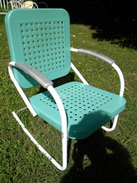 Vintage Metal Lawn Chairs Color Fresh Painted Vintage Vintage Patio Chairs