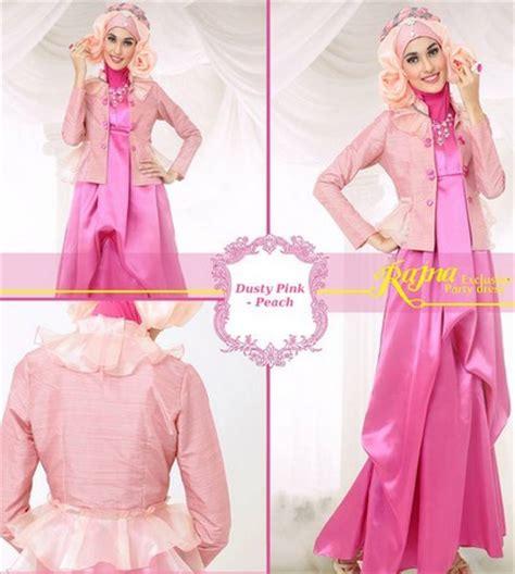 Gamis Pesta Warna Pink 11 gambar model baju muslim gaul masa kini 2018