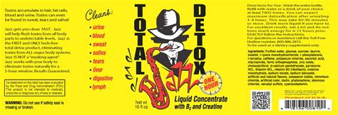 Does Jazz Total Detox Work For Coke by 16oz Jazz Total Detox