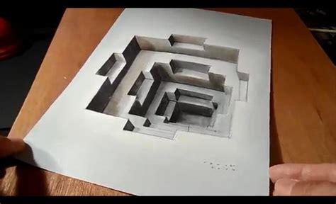 cara membuat gambar 3d di kertas menggunakan pensil gambar illusi 3d paling menganggumkan media kertas