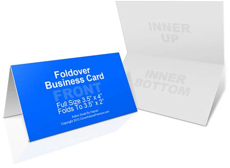 folding business card template foldover business card mockup cover actions premium