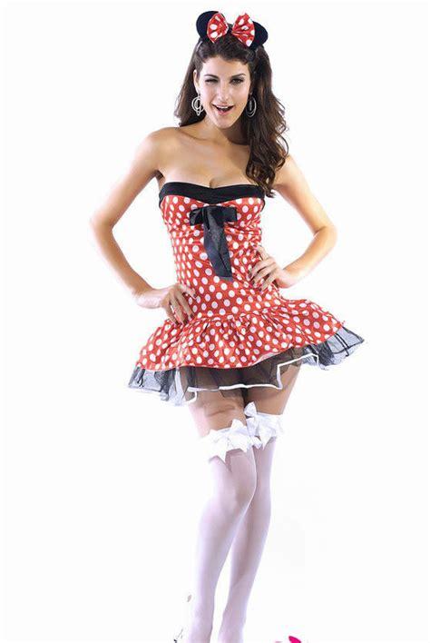 Dress Katun Mini Mouse Import miss mouse fancy dress costume mini dress hen minnie s size 8 10 s ebay