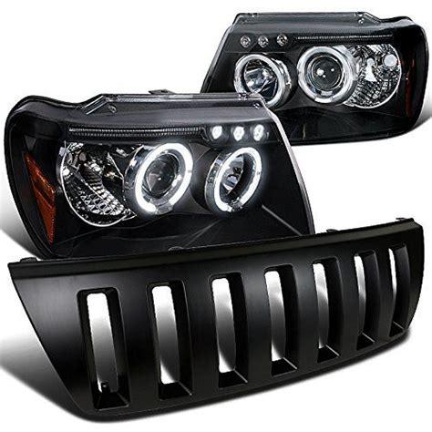 halo theme jeep black led drl halo projector jeep grand