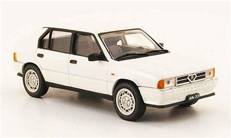 pego car alfa romeo 33 quadrifoglio white 1983 pego diecast model