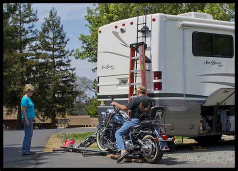 driving boat into lift how to mount your motorcycle on the back of your class a