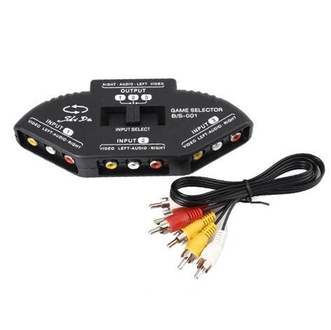 splitters switches composite av rca to hdmi 3 port av composite audio rca phono selector switch for