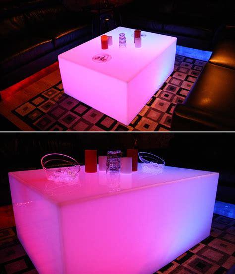 led coffee tables nightclub bar lounge furniture