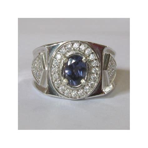 Cincin Single Pria 9 cincin permata iolite untuk pria silver 925 ring 9us