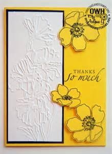 yellow floral handmade card operation write