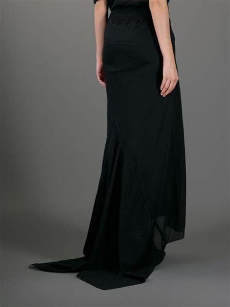 draped long skirt rick owens long draped skirt in black lyst