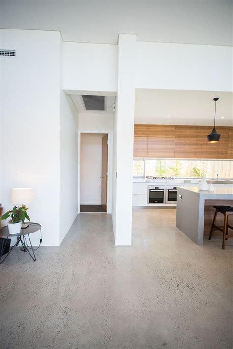 concrete kitchen floor homes sleek concrete kitchen caesarstone sleek