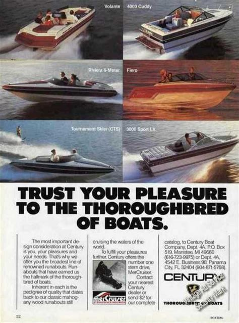 century thoroughbred boats vintage transportation ads of the 1980s page 6