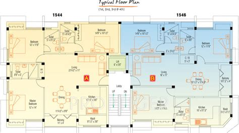 rose red house floor plans 1546 sq ft 3 bhk 3t apartment for sale in appaswamy real