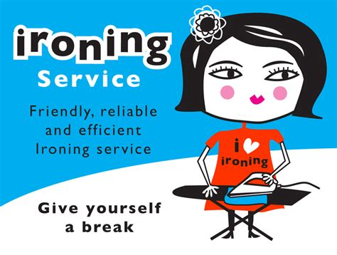 esani illustration of an ironing lady