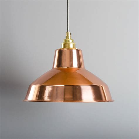 Copper Industrial Pendant By Bare Bones Lighting Copper Lights
