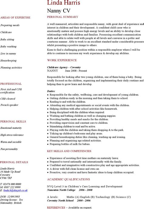 best full time nanny resume best full time nanny resume