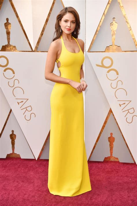 Dresses Ruled At The Oscars Get The Look For Less by Eiza Gonzalez Wearing Yellow Dress At The Oscars 2018
