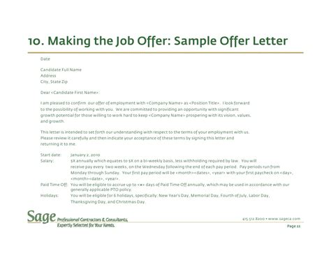 Hourly Offer Letters How To Select The Best Employees