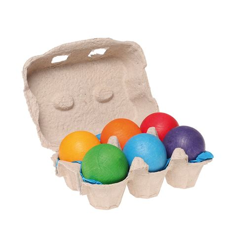 rainbow decorative balls grimm s 6 rainbow wooden balls