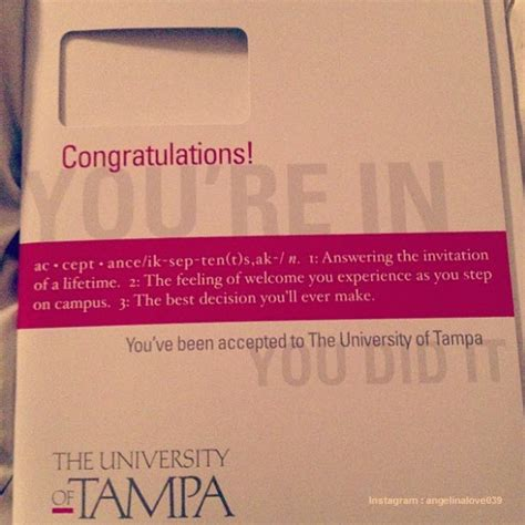 College Acceptance Letter Instagram 11 Awesome College Acceptance Letters Shared In Instagram