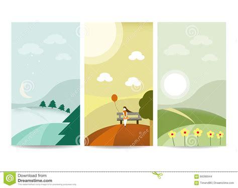 design banner landscape landscape banner template stock vector image 66096944