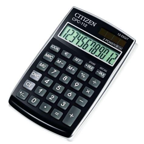 calculator citizen cpc 112bk citizen calculator
