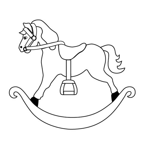 coloring pages of rocking horses rocking pictures page