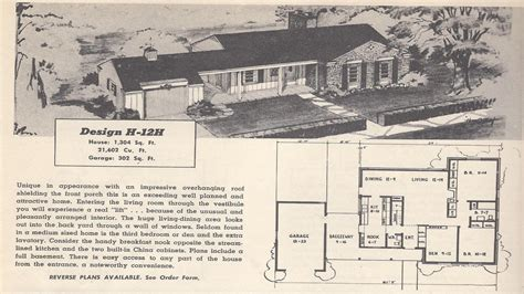 retro ranch house plans vintage house plans 1954 ranch 1 1 2 story and tri level