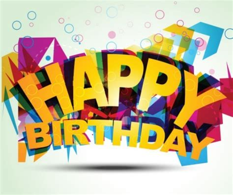 happy birthday art design free colorful happy birthday art design vector titanui