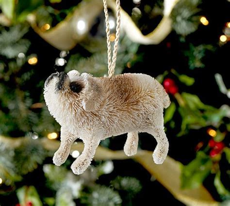 pug ornament pottery barn 17 best images about sisal animal on bottle bottlebrush and arctic animals