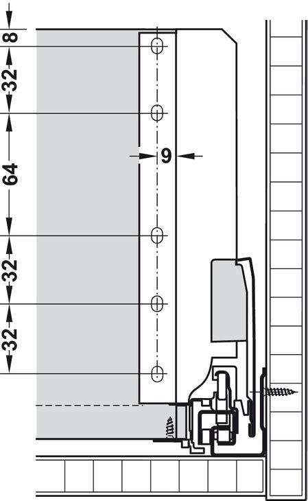 altezza ringhiera set completo cassetto blum tandembox antaro con guide