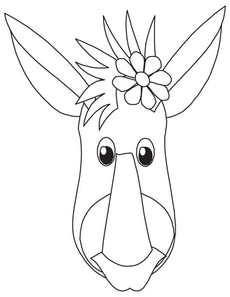 donkey face coloring page donkey face coloring page download free donkey face