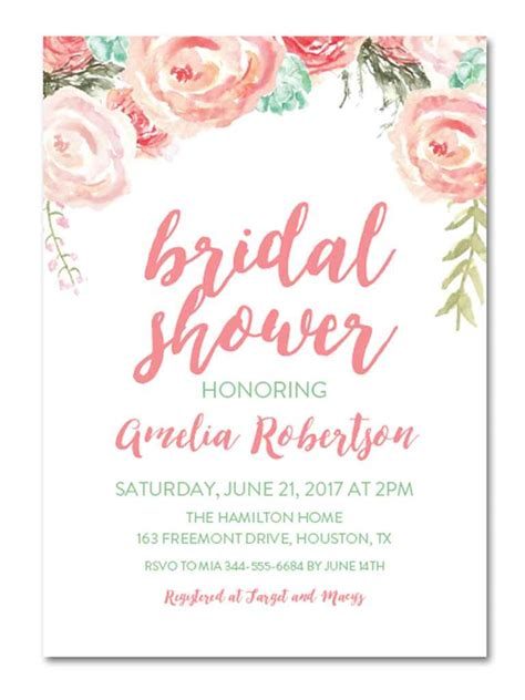 Shower Invitations by Printable Bridal Shower Invitations You Can Diy