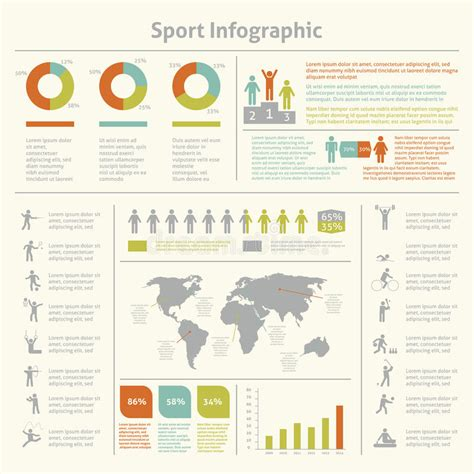 sports infographics templates sport infographic template chart stock vector