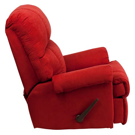 red microfiber recliner red rock microfiber rocker recliner