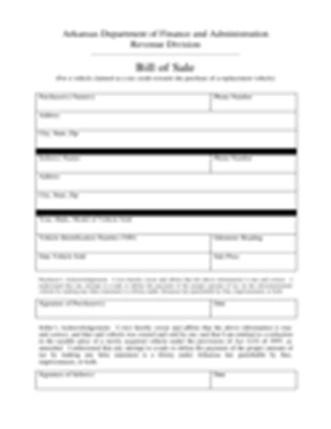 boat bill of sale arkansas bill of sale form 183 free templates in pdf word excel