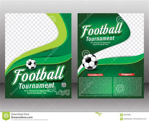 football tournament flyer template football tournament flyer magazine template stock illustration illustration of back