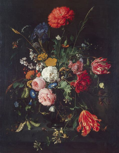Paintings Of Flowers In A Vase by Flowers In A Vase Painting Heem Jan Davidsz De
