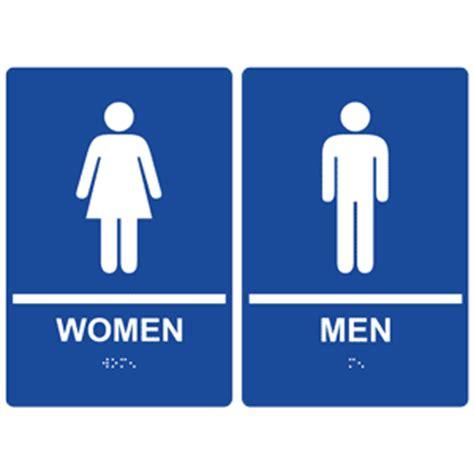 men and women bathroom symbols ada women men with symbol braille sign rre 125 145pair