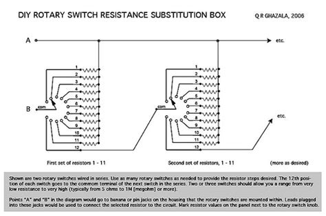 resistor substitution box schematic circuit bending tips resistance substitution wheel is dead how to make your own cdm create