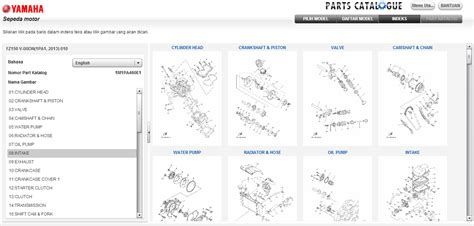 Katalog Sparepart Yamaha Vixion cari tahu part dan aksesoris yamaha endi suwitno