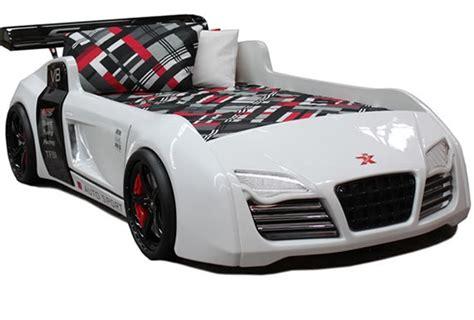 Audi Bett by V8 Quattro White Designer Car Beds
