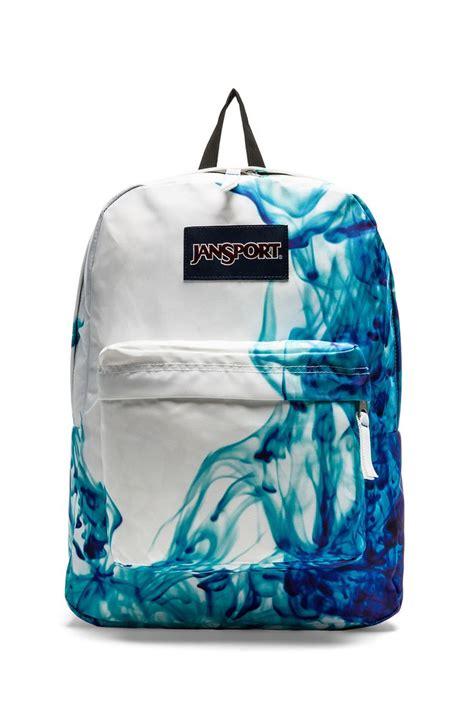 jansport superbreak backpack blue drip dye backpacks