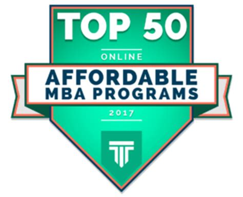Cheapest Mba Programs 2017 by Top 50 Most Affordable Mba Programs 2017