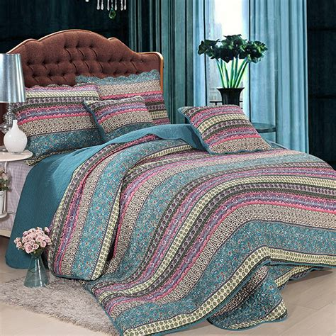 Handmade Quilted Bedspreads - handmade bedding set king size luxury striped classical