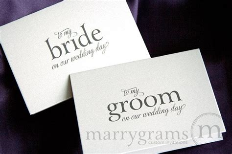 Wedding Card To Your Bride Or Groom On Your (Our) Wedding