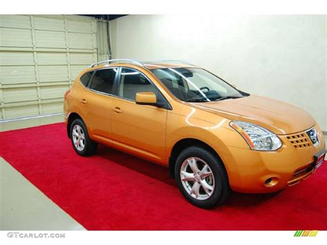 orange nissan rogue orange alloy metallic 2008 nissan rogue sl awd exterior