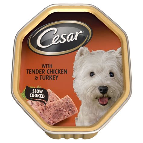 cesar food buy cesar tray with tender chicken and turkey 14x150gm pack