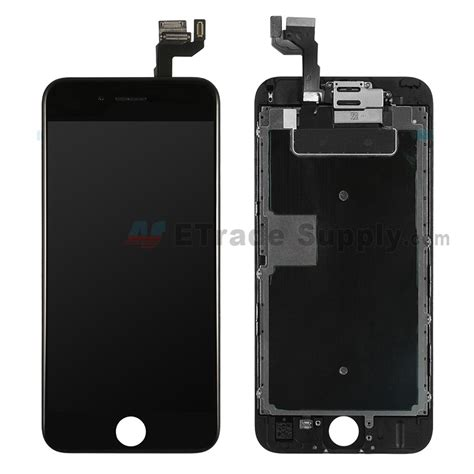 apple iphone 6s lcd assembly with frame and small parts black etrade supply